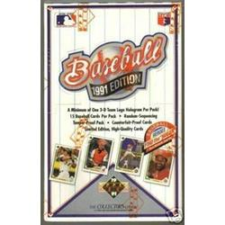 Upper Deck 1991 Baseball Cards Unopened Box (36 Packs per Box, 15 Cards/Pack). Look for The Atlanta Braves Chipper Jones Rookie Card