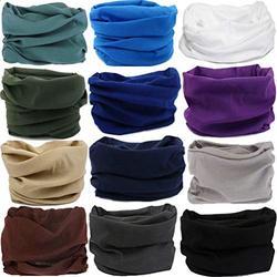 DEMIL 6PCS/8PCS/12PCS Seamless Headband camo Bandanas Headwear for Men&Women Neck warmer Scarf 16-in-1 Multifunctional for Neck Gaiter (A9(12PCS))