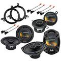 Harmony Audio R65 Factory Speaker Replacement Upgrade Package Compatible with Chrysler Concorde 1998 1999 2000 2001