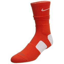 Nike Mens Basketball Elite Crew Socks (Medium, Team Orange/White)