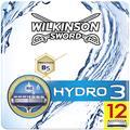 Wilkinson Sword Hydro 3 lames de rasoir pour homme, Lot de 12