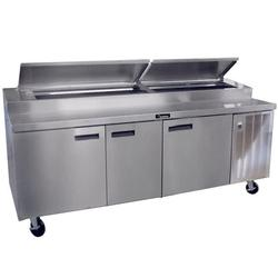 "Delfield 18699PTBMP 99"" Pizza Prep Table w/ Refrigerated Base, 115v"