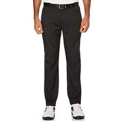 PGA TOUR Men's Flat Front Active Waistband 5-Pocket Golf Pant, caviar, 38W x 30L