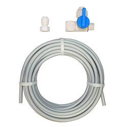 Eastman 60467N Flexible PEX Ice Maker Kit with Stop Valve Adapter, 25', White