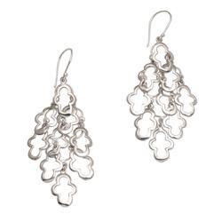 Sterling silver dangle earrings, 'Spanish Moss'