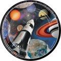 Creative Converting Space Blast Paper PlatePaper in Black/Orange | Wayfair DTC415533PLT