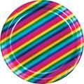 Creative Converting Rainbow Foil Paper PlatePaper in Blue/Green/Pink   Wayfair DTC335532PLT
