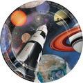 Creative Converting Space Blast Paper PlatePaper in Black/Orange | Wayfair DTC425533DPLT