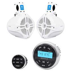 "Rockville RGHR2 Marine Bluetooth USB Receiver+Remote+(2) 6.5"" Wakeboard Speakers"