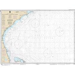 """MapHouse NOAA Chart 11009 Cape Hatteras to Straits of Florida: 35.2"""" X 46.7"""" Paper Chart"""