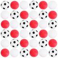 Brybelly 36 Pack of Mixed Foosballs – for Standard Foosball Tables & Classic Tabletop Soccer Game Balls (12 Black & White Soccer) (12 Smooth White) (12 Red Textured)