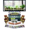Windowsill Herb Garden Kit, Herb Planter Comes Complete with a 10 Variety Non GMO Heirloom Herb Seed Collection & Herb Pots