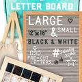 Letter Board 12x18 | +690 PRECUT Letters +Stand +Cursive +UPGRADED WOODEN Sorting Tray | (Gray) Letter Board with Letters, Letters Board, Felt Letter Boards, letterboard, Message Board, Letter Sign