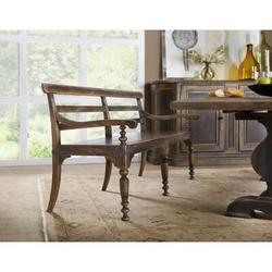 Hooker Furniture Hill Country Wood Bench Wood in Brown, Size 34.5 H x 74.0 W x 25.25 D in | Wayfair 5960-75315-BRN