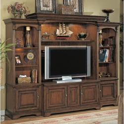 """Hooker Furniture Brookhaven Entertainment Center for TVs up to 60""""Wood in Black/Brown 