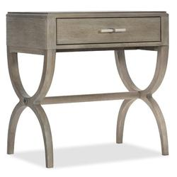 Hooker Furniture Affinity Leg 1 Drawer Nightstand Wood in Brown/Gray, Size 29.0 H x 28.0 W x 18.0 D in   Wayfair 6050-90015-GRY