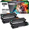 Cool Toner Compatible Drum Unit Replacement for Brother DR820 DR-820 Drum Brother HL-L6200DW MFC-L5900DW HLL6200DW HL-L6200DWT HL-L5100DN HL-L5200DW MFC L5850DW L6800DW (Black,2-Pack)