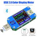UM25C Color LCD Display Tester 1.44 Inch 5A USB 2.0 Type C Bluetooth Tester Voltage Current Meter Voltmeter Ammeter Battery Charge Measure Cable Resistance Load Impedance Measurement