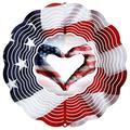 East Urban Home Flag Heart New 2017 Spinner Metal, Size 6.0 H x 6.0 W x 1.0 D in   Wayfair 30933D963FD34A3B93E0142F547A42F8