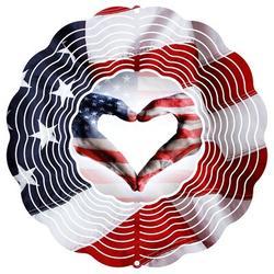 East Urban Home Flag Heart New 2017 Rotator Metal, Size 10.0 H x 10.0 W x 1.0 D in | Wayfair D25FB1BA570E4D33A6E1599B19303963