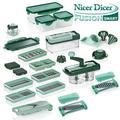 Genius Nicer Dicer Fusion Smart Julietti   Mandoline 34 en 1 Multifunction Professionelle   Trancheuse   couper- / râpé- / éplucher- / cubes- / quartier- / spirales- / manger- / légumes