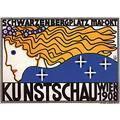 Stylized woman with flowing hair Bertold L?ffler (28 September 1874 Liberec ? 23 March 1960 Vienna) was an Austrian painter printmaker and designer Poster Print by Berthold L?ffler (24 x 36)