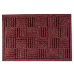 """Water & Dirt Shield Parquet Door Mat - Dark Brown, 35"""" x 82"""" - Frontgate"""