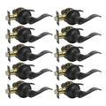 KNOBWELL 10 Pack Exterior Door Handle Door Lock Set Keyed Alike/Combo Keys Oil Rubbed Bronze Door Handle, Vintage Bronze Lever Door Handle, Door Lever Lock