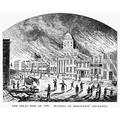 Wall Street Fire 1835 Nthe Merchants Exchange In New York City Ablaze During The Great Fire Of 1835 Line Engraving 19Th Century Poster Print by (18 x 24)