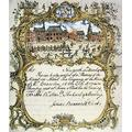 Fire Certificate Nof The Hand-In-Hand Fire Company Of New York Dated 1762 But Engraved C 1750 Poster Print by (24 x 36)
