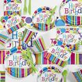 Creative Converting Bright & Bold Birthday Party Paper/Plastic Disposable Dessert PlatePaper   Wayfair DTC5412C2A