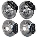 "NEW WILWOOD DISC BRAKE KIT, 13""/12"" ROTORS, BLACK 6 PISTON FRONT & 4 PISTON REAR CALIPERS, 67-69 CAMARO/FIREBIRD & 64-72 GM A-BODY CHEVELLE EL CAMINO MALIBU SKYLARK CUTLASS 442 GTO LEMANS TEMPEST"