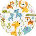 Creative Converting 96 Count Sturdy Style Dinner/Large Paper Plates, Happi Jungle