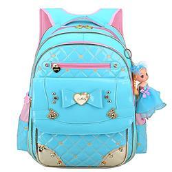 Backpack for Girls,Waterproof Kids Backpack Cute School Bag for Elementary Princess Bookbag