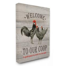 Stupell Industries Welcome to Our Coop - Textual Art Print on CanvasCanvas & Fabric in Black/Brown, Size 30.0 H x 24.0 W x 0.5 D in   Wayfair