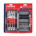 Norske Tools NIBPI703 42pcs Screwdriver Bit Set, Impact Torsion, PH Bits, SQ Bits, TORX Bits, Socket Adapters, Nutsetters, Magnetic QC Bit Holder