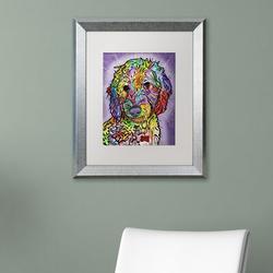 Trademark Fine Art 'Sweet Poodle' Graphic Art PrintCanvas & Fabric in Brown/Indigo, Size 20.0 H x 16.0 W x 0.5 D in | Wayfair ALI5781-W1620MF