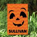 CPS Happy Jack O Lantern Personalized Polyester 18 x 12 in. Garden Flag in Orange, Size 17.5 H x 12.0 W in   Wayfair 66197