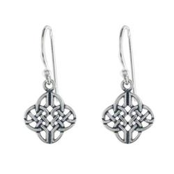 Sterling silver dangle earrings, 'Celtic Style'