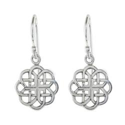 Sterling silver dangle earrings, 'Knotted Flowers'
