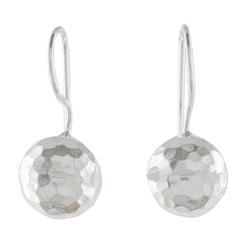 Sterling silver dangle earrings, 'Woven Crosses'