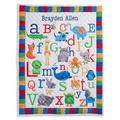 Zoomie Kids Kistner Personalized ABC Quilt in Blue/Orange, Size 40.0 H x 30.0 W x 1.0 D in | Wayfair 74949AD55EB5452B8375E502C490D483