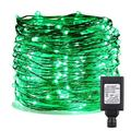 ER CHEN Fairy Lights Plug in, 164Ft/50M 500 LED Silver Coated Copper Wire Starry String Lights Outdoor/Indoor Decorative Lights for Bedroom, Patio, Garden, Party, Christmas Tree (Green)