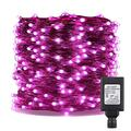ER CHEN Fairy Lights Plug in, 164Ft/50M 500 LED Silver Coated Copper Wire Starry String Lights Outdoor/Indoor Decorative Lights for Bedroom, Patio, Garden, Party, Christmas Tree (Pink)