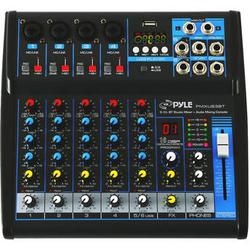 Pyle Pro PMXU63BT Compact 6-Channel, Bluetooth-Enabled Audio Mixer PMXU63BT