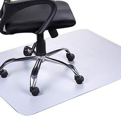 Office Chair Mat for Hardwood Floor - 47x35 inches Heavy-Duty Non-Skid Computer Desk Chair Mat, Multi-Purpose Floor Mat, Computer Chair Mat, Office Rolling Chair & Work from Home Accessories, Gray