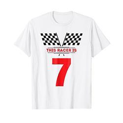 Kids 7th Birthday Racing Race Car Shirt for 7 Year Old Boys
