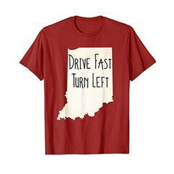 Indiana Drive Fast Turn Left Vintage Look