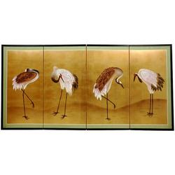 """World Menagerie Maurice 72"""" W x 36"""" H 4- Panel Folding Room Divider Wood in Brown, Size 36.0 H x 72.0 W x 0.75 D in   Wayfair"""