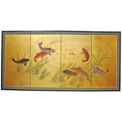 """World Menagerie Maurice 72"""" W x 36"""" H 4- Panel Folding Room Divider Wood in Brown, Size 36.0 H x 72.0 W x 0.63 D in 